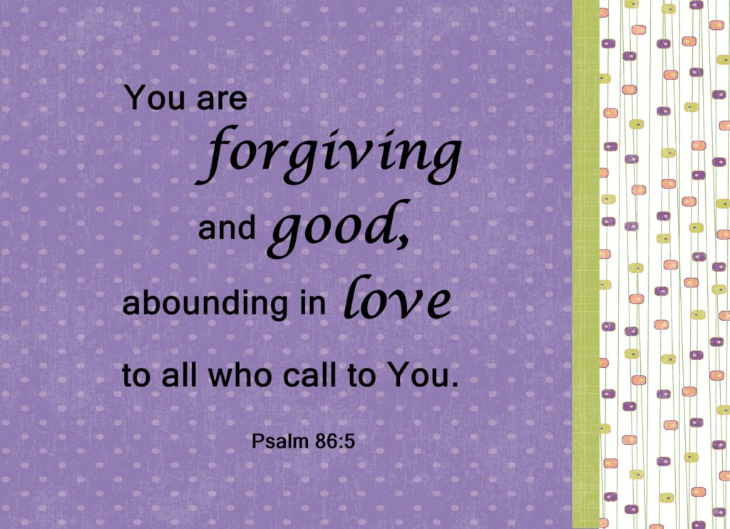 Forgiving and Good
